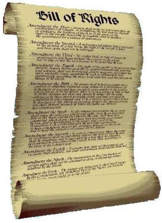 Bill of Rights-scroll | Forloveofgodandcountry's Blog