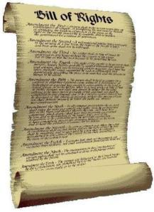 Bill of Rights-scroll