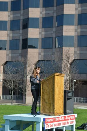 Diane - Speaking at the Honor the Oath Rally - Jan. 9, 2013