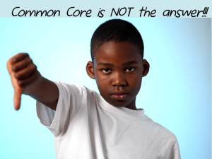 Common Core - Boy with Thumbs Down (CC is Not The Answer)