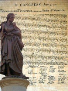 Declaration of Independence - with Jefferson statue