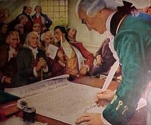 What date was the declaration of independence signed in Brisbane