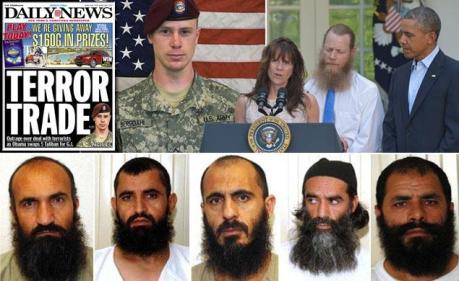 Taliban swap - collage