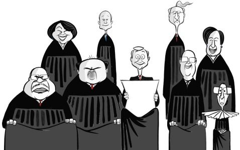 Supreme Court - caricatures
