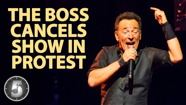 Springsteen - Cancels Show