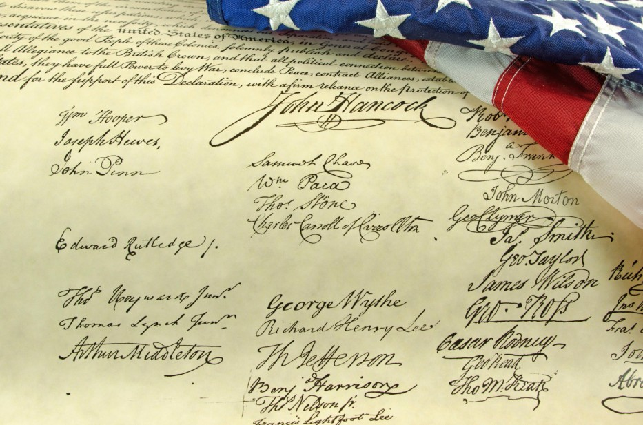 Declaration of Independence - signatures