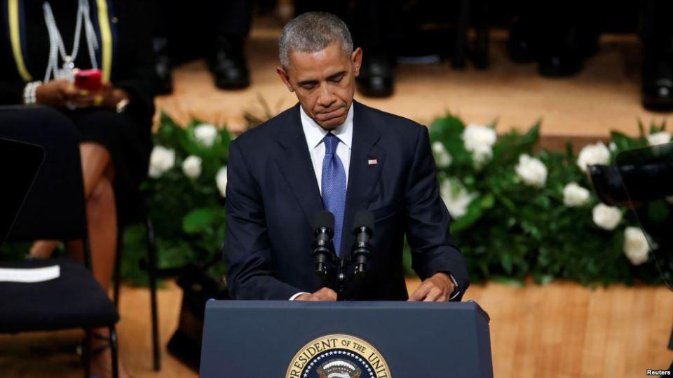 Obama - Dallas service
