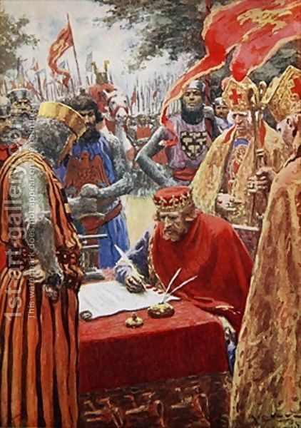 MAGNA CARTA - King John signing