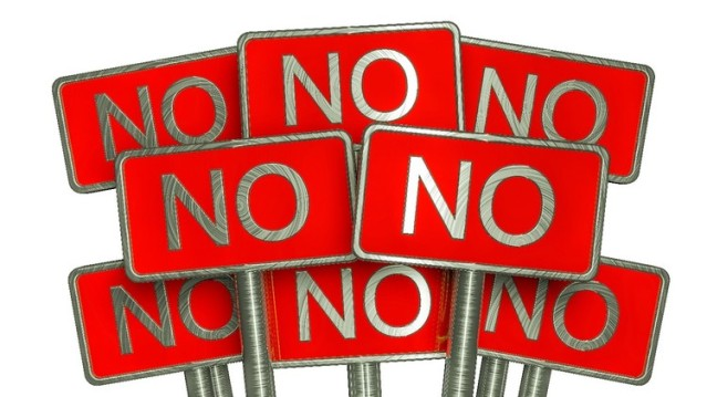 NO - Just say NO (signs)