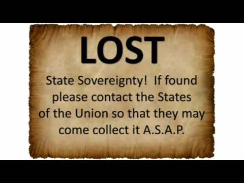 STATE SOVEREIGNTY - Lost (please return)