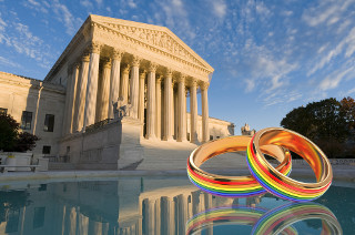 OBERGEFELL v. HODGES - Supreme Court pic with rainbow-colored wedding rings