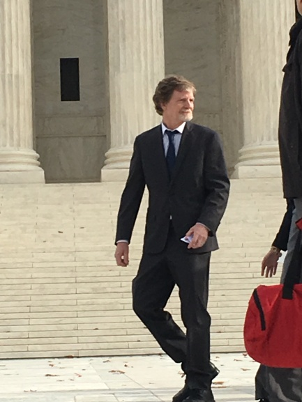 PHILLIPS CASE (Before the Supreme Court, Dec. 5, 2017) - Jack Phillips leaving the building after oral arguments ended (#5)