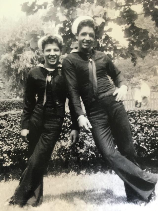 DAD & UNCLE GENE - Navy days
