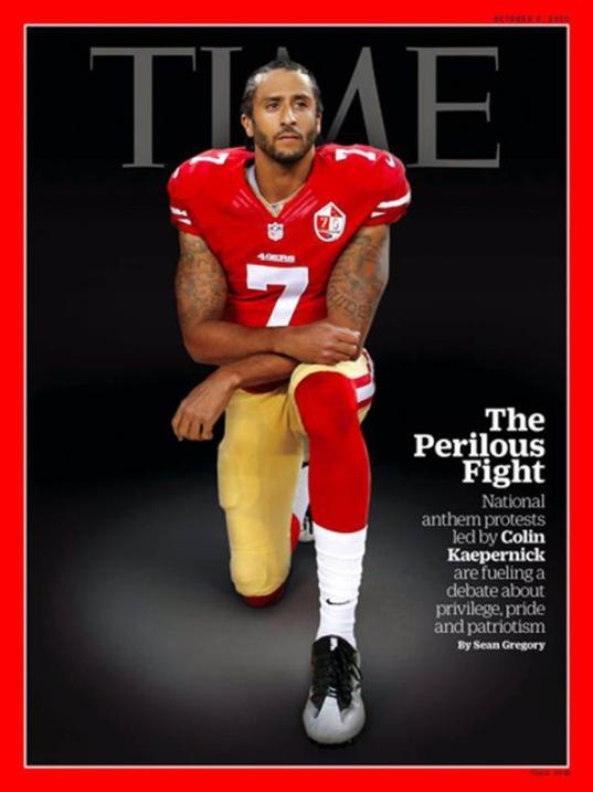 COLIN KAEPERNICK - Time Magazine cover (taking a Knee)