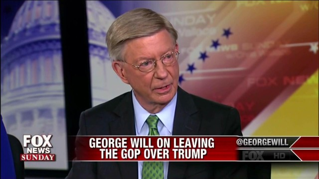 GEORGE WILL - Leaving GOP over Trump