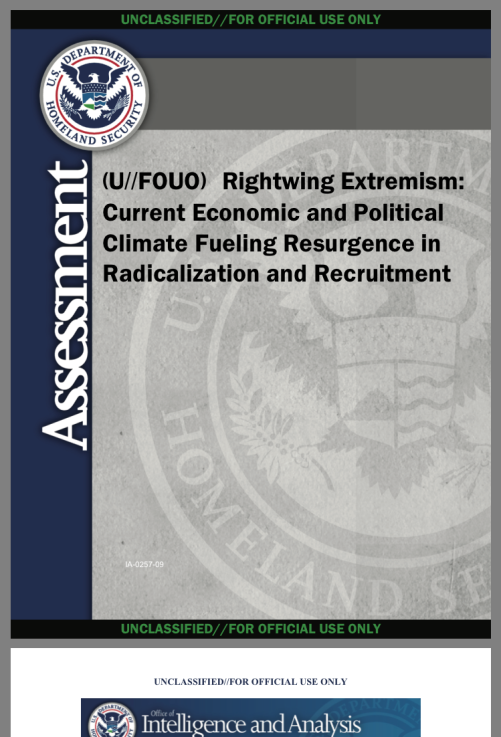 RIGHTWING EXTREMISM - DHA (April 2012)