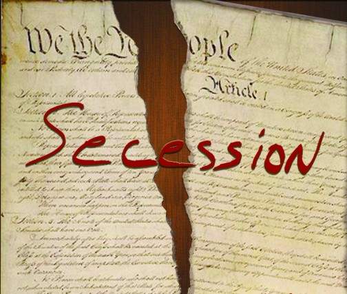 SECESSION - constitution ripped in half