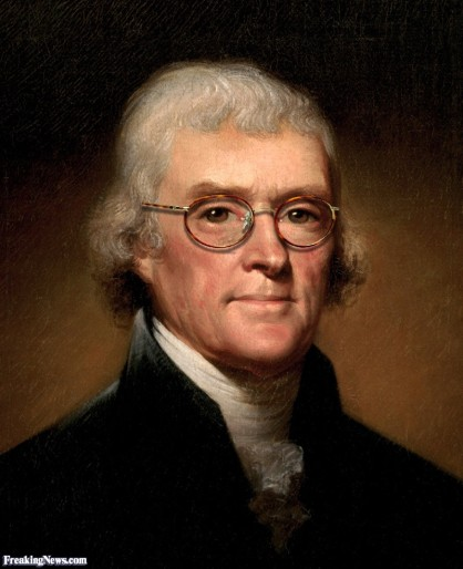 THOMAS JEFFERSON - wire glasses