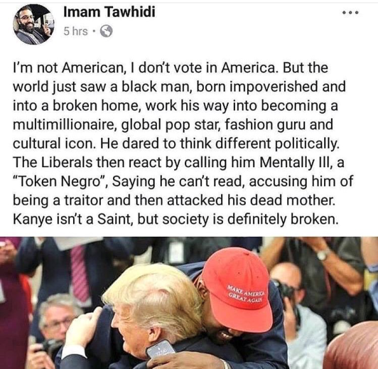 KANYE WEST - Twitter post (how bad he has been mistreated for supporting Trump)