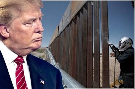 trump - and the wall (wall funding - photo credit - golifa)