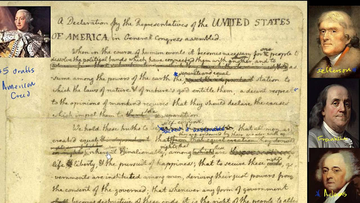 DECLARATION OF INDEPENDENCE - early draft