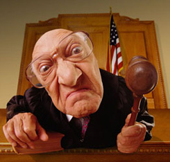 JUDICIAL TYRANNY - mean old judge